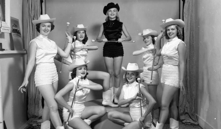 Gilmer High School Majorettes 1956 (Texas)