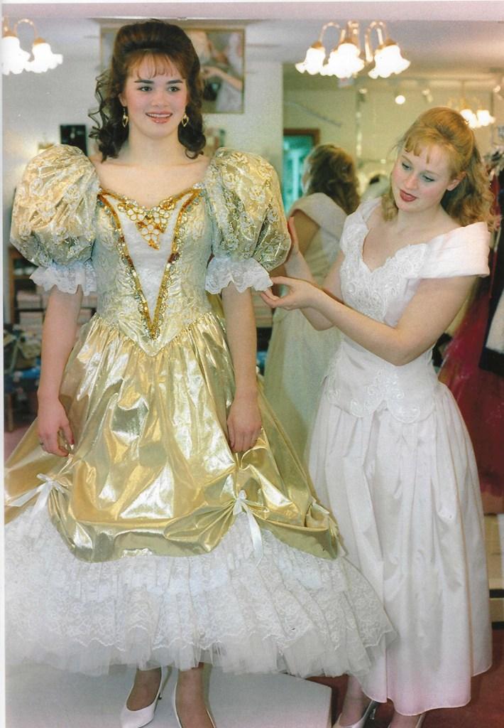 1990s prom dress