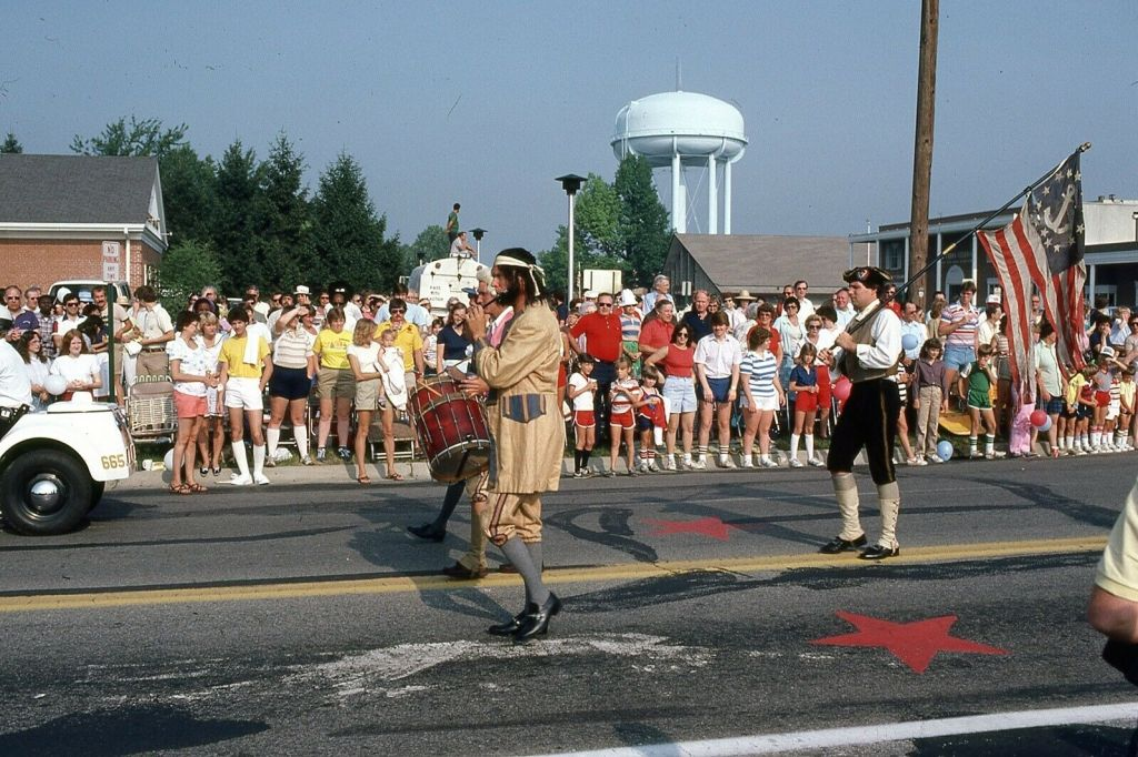 This minuteman needed a better wig. LOL. I love parades!