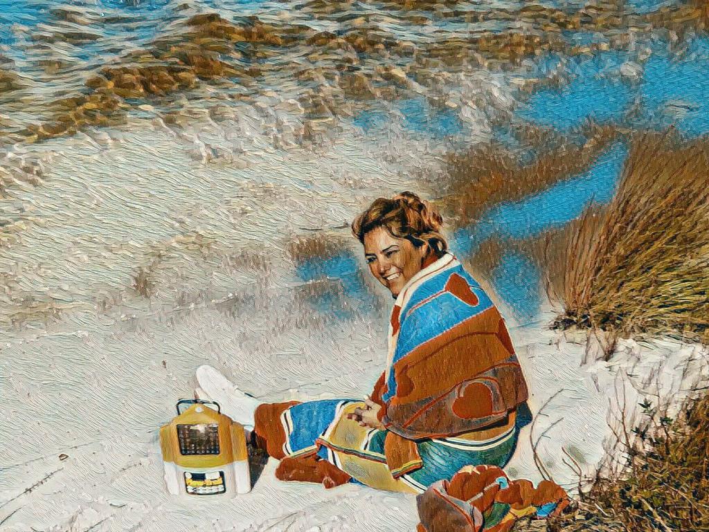 Jeanna at the Beach, 1985ish