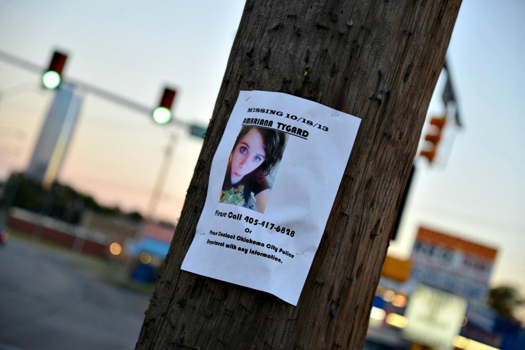 Missing Girl Sign: Ambriana Tygard