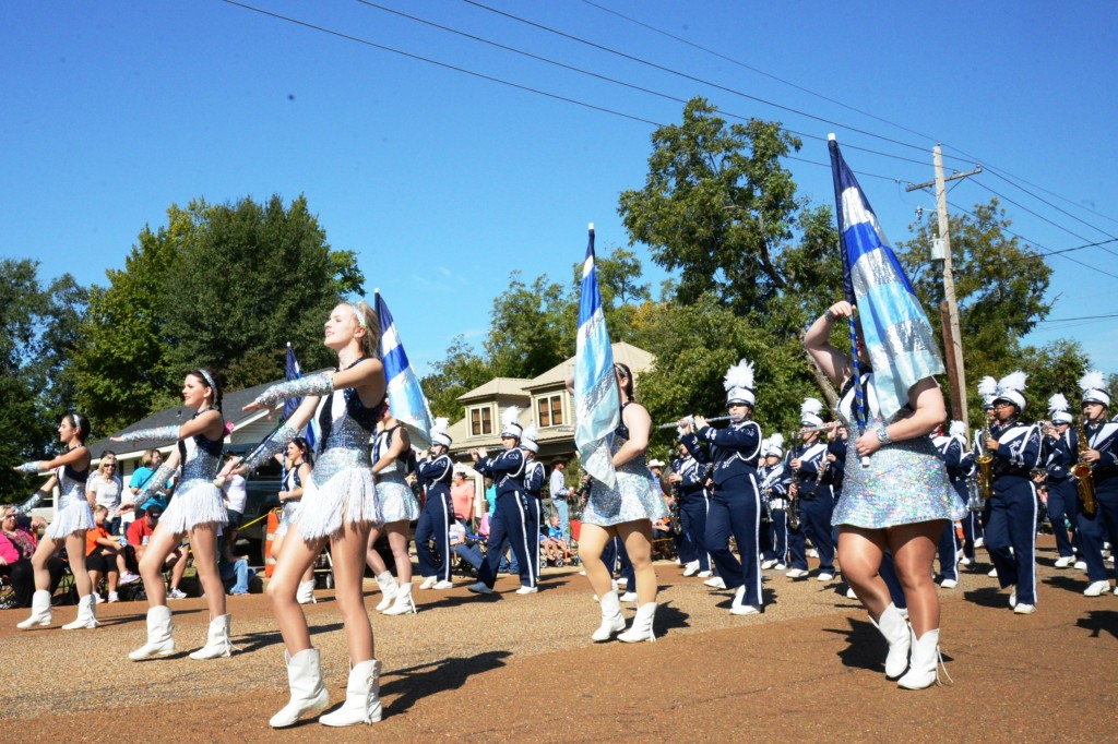 Flag girls perform at the Yamboree