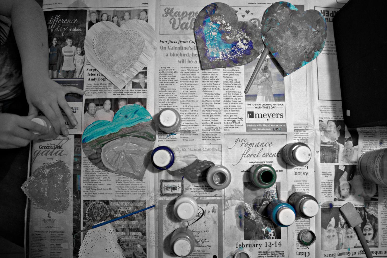 Blue Valentines Hand Tint