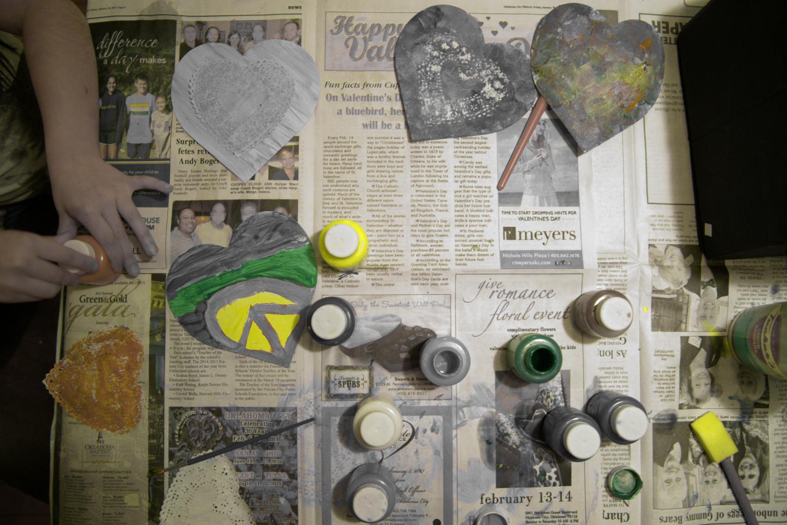 Yellow Hand Tint Valentines