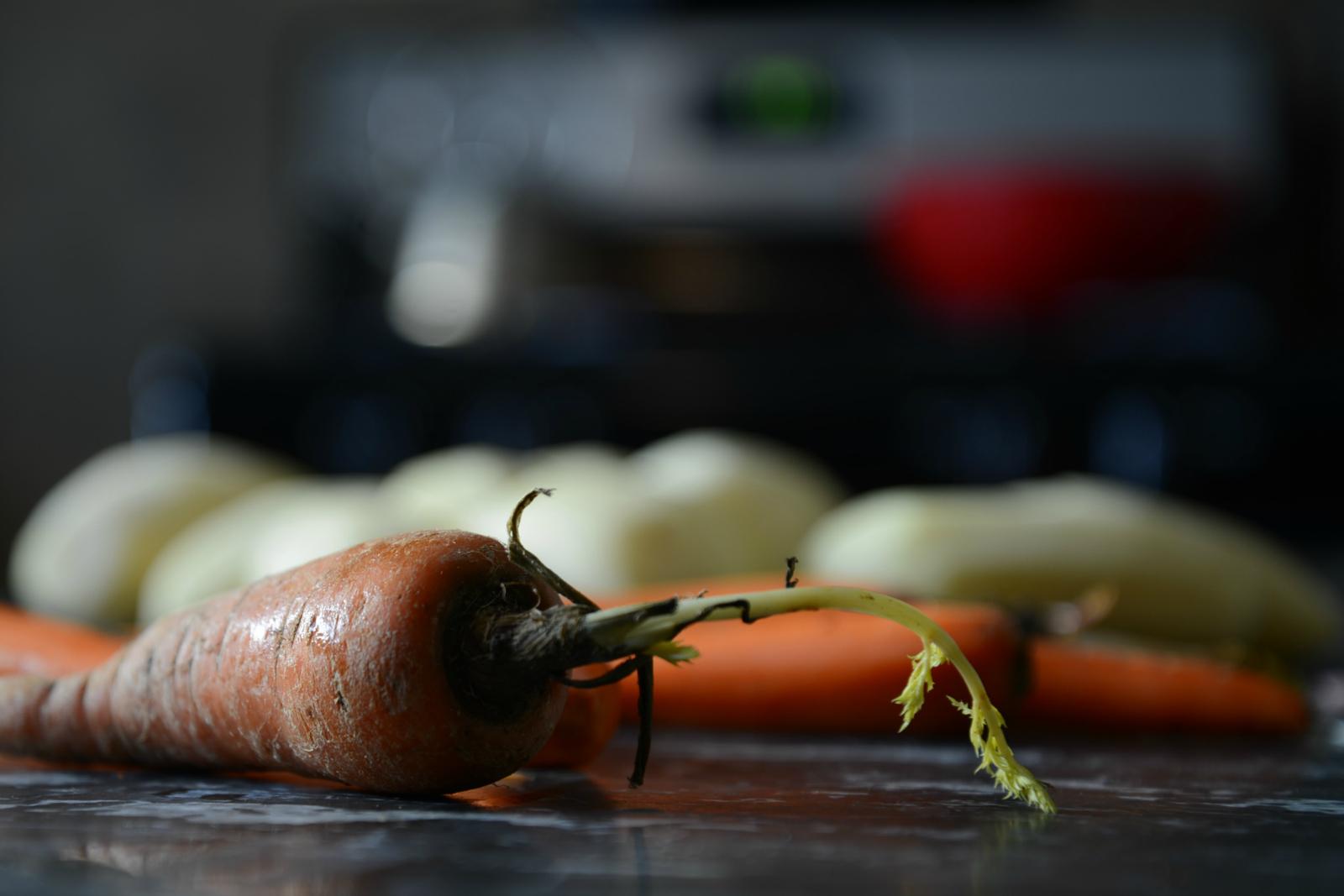 Making Sunday Dinner, Peeling Carrots