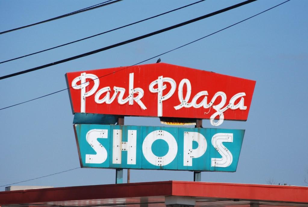 Retro Shopping Plaza Sign, Park Plaza, OKC