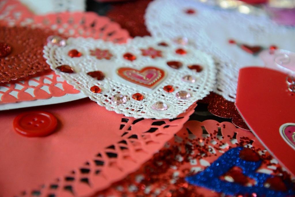 valentine doily