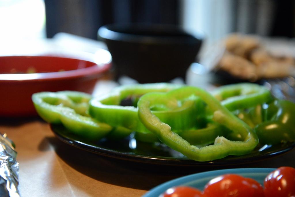 Green Bell Pepper Slices