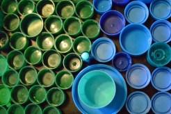 Green Blue Aqua Caps