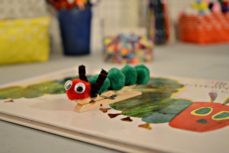 Hungry Caterpillar clothespin
