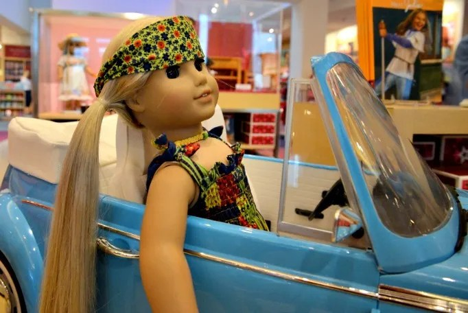 Julie Albright VW Bug 1970s American Girl