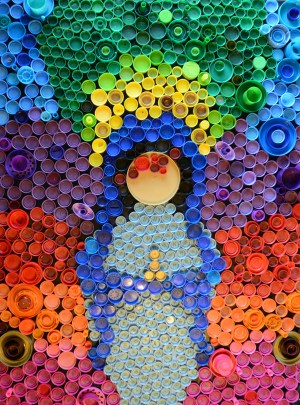 Mary Bottle Cap Art