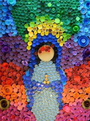 Plastic Bottle Cap Art (A How-To With Pictures)