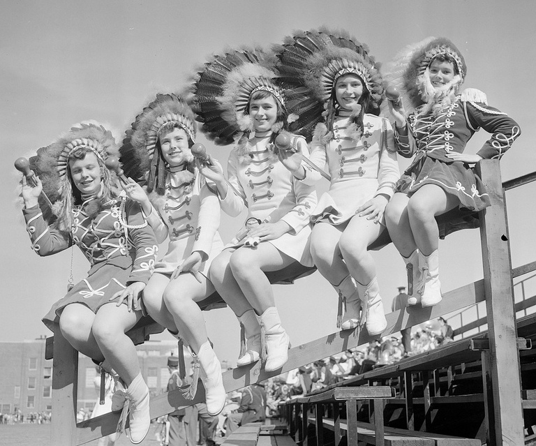 Majorettes in War Bonnets