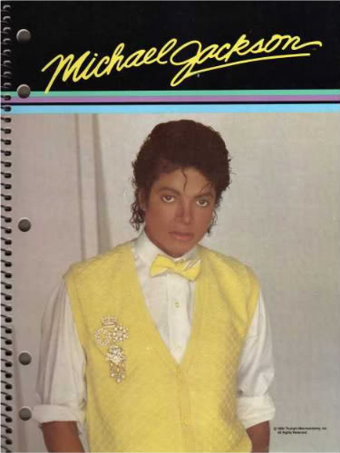 Michael Jackson Spiral Notebook, 1980s