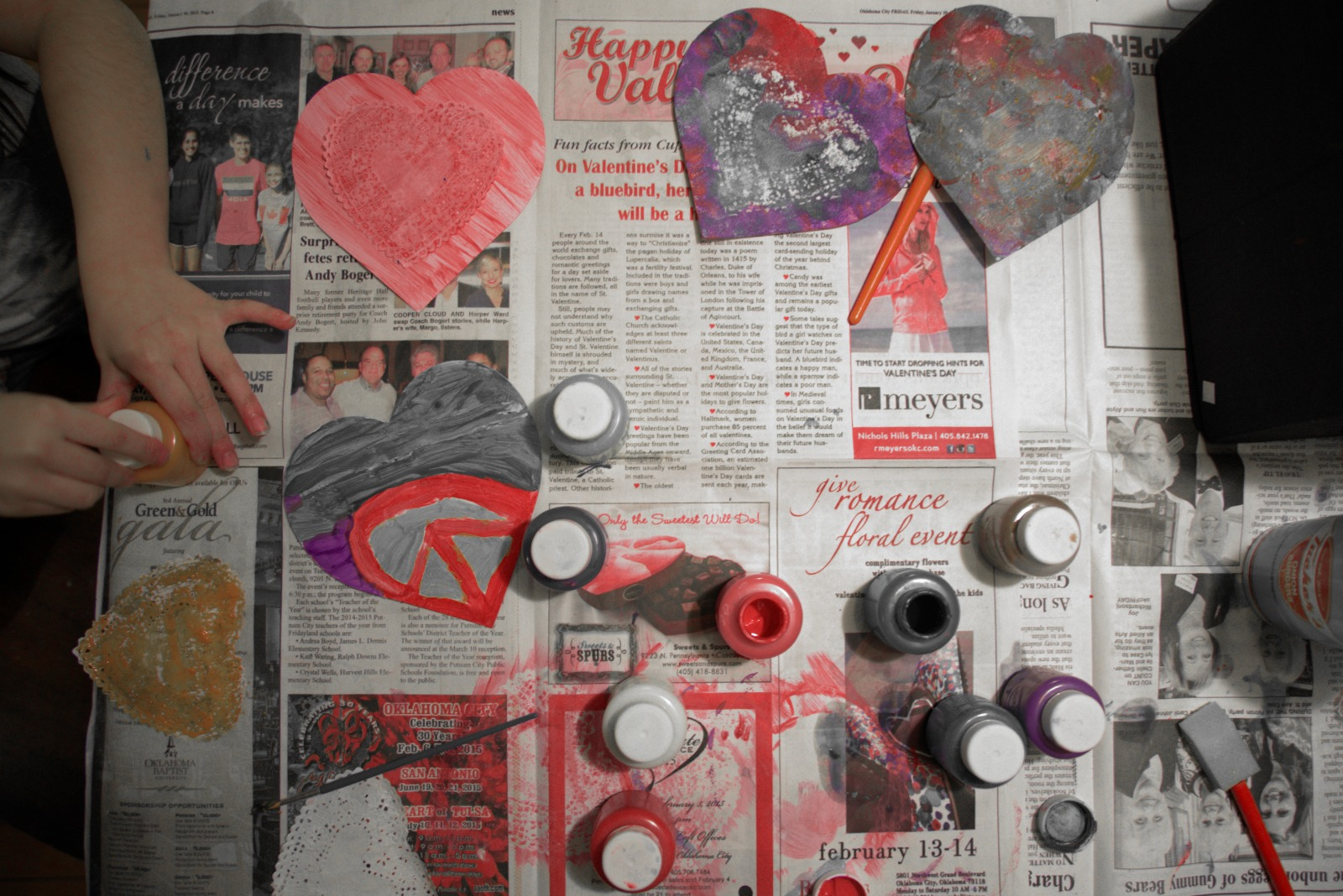 Red Hand Tint valentines