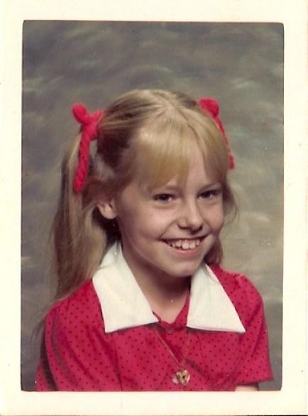 Homemade Annie Dresss with locket from the 1982 Annie Era.