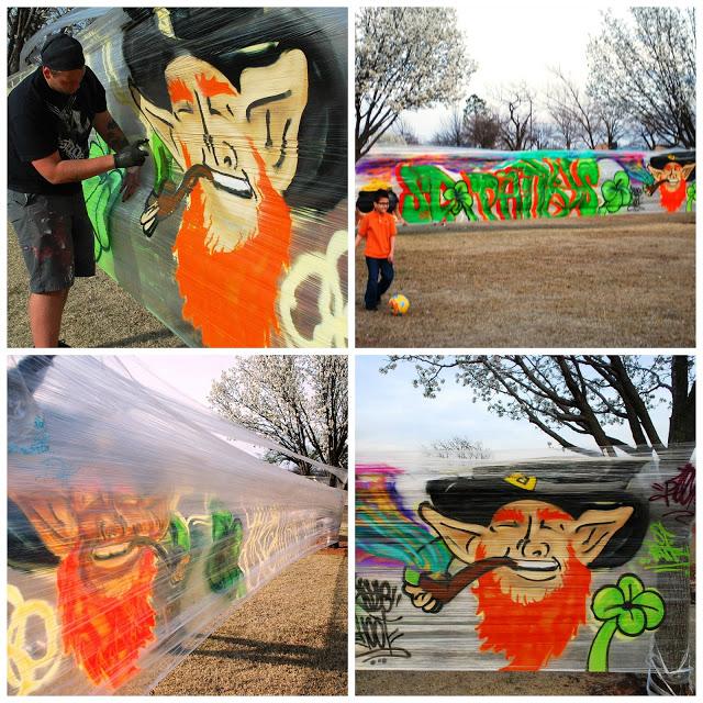 Cellograff Graffiti St. Patrick's Day OKC