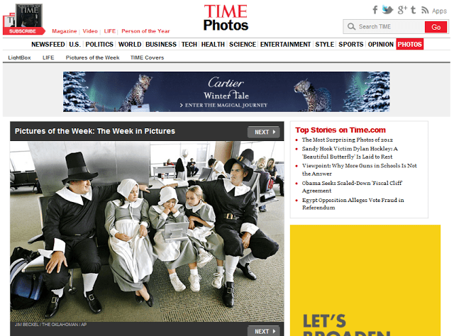 family dressed as pilgrims at airport