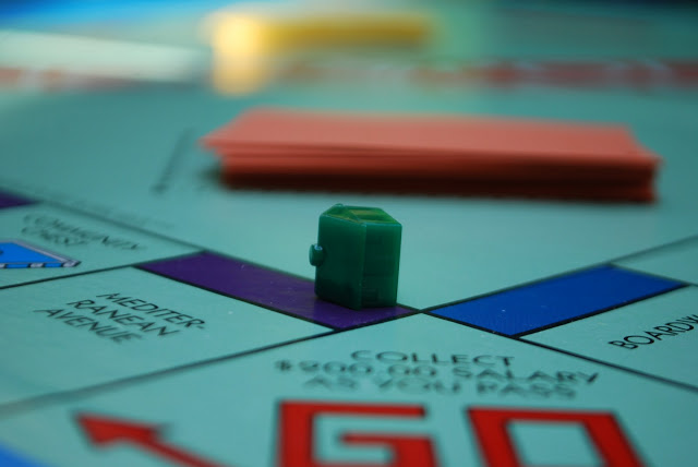 Monopoly Game Board Houses