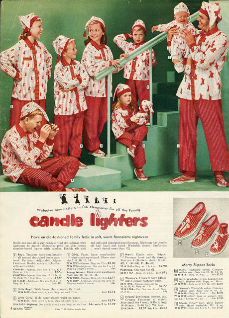 Scary Matching Pajamas Christmas Catalog 1958