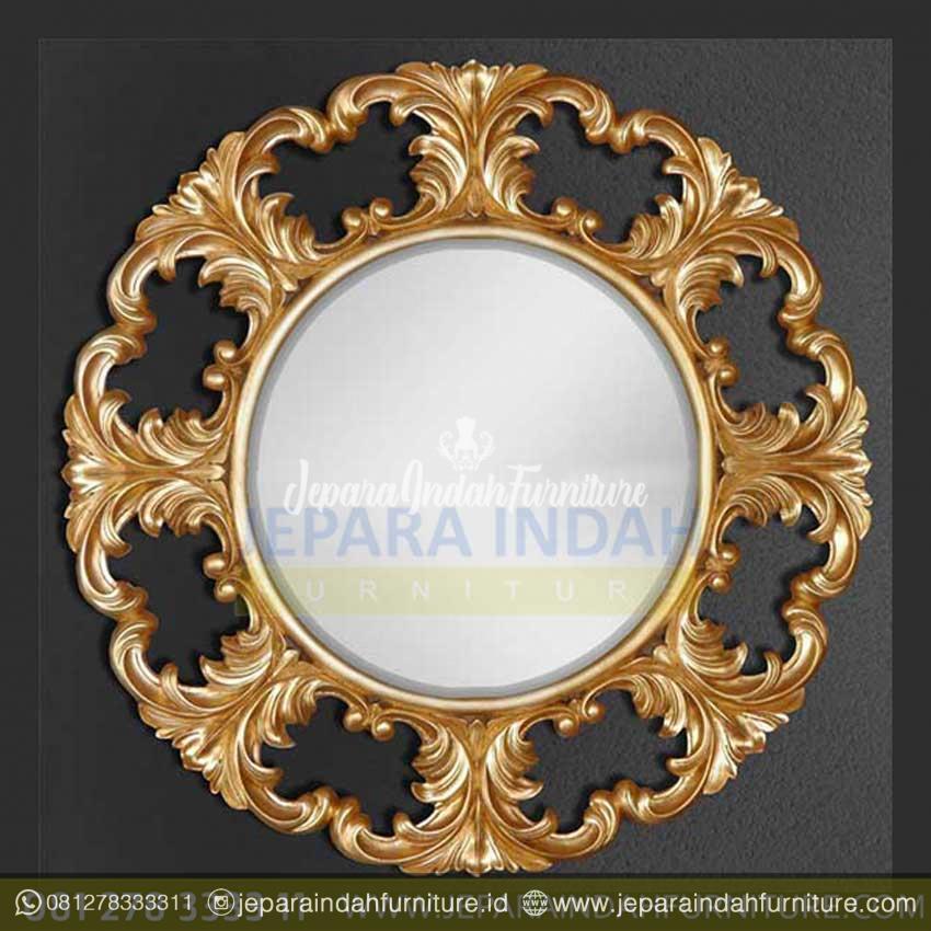 Pigura Cermin Hias Dinding Ukiran Antik Gold Leaf - Kaca ...