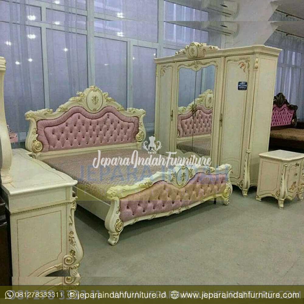 Kamar Tidur Mewah Satu Set Eksklusif Jepara Indah Furniture Tempat tidur satu set