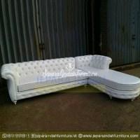Jual Sofa Ruang Tamu Sudut Elegant Putih