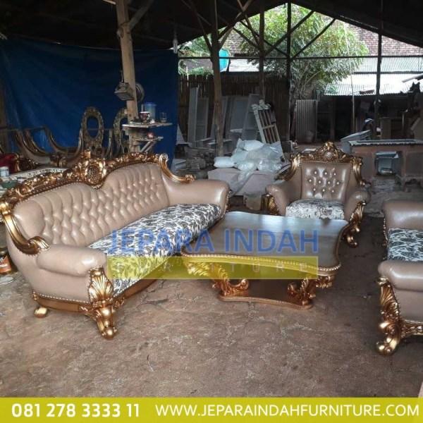 Harga Jual Set Sofa Tamu Besar Mewah Jepara