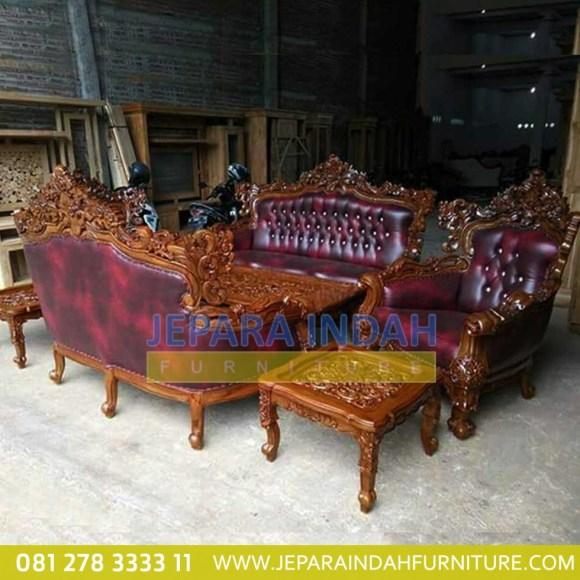 Harga Jual Set Sofa Tamu Jati Romawi