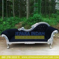 Pusat Jual Sofa Single Louis Silver