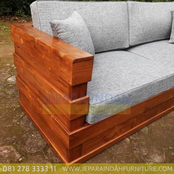 Harga Jual Sofa Jati Minimalis 2 Seater Cantik