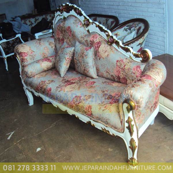 Harga Jual Sofa Living Single Ukir Cantik Gold Decor