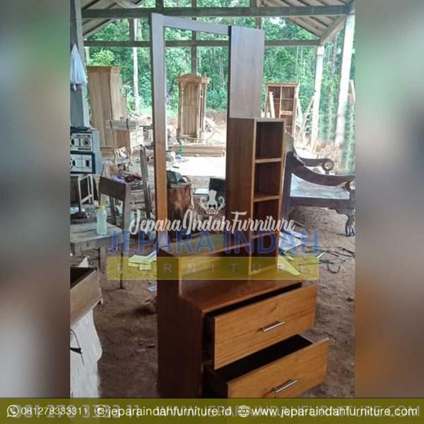 Pusat Jual Meja Rias Jati Minimalis 2 Box (BRF TMR 060)