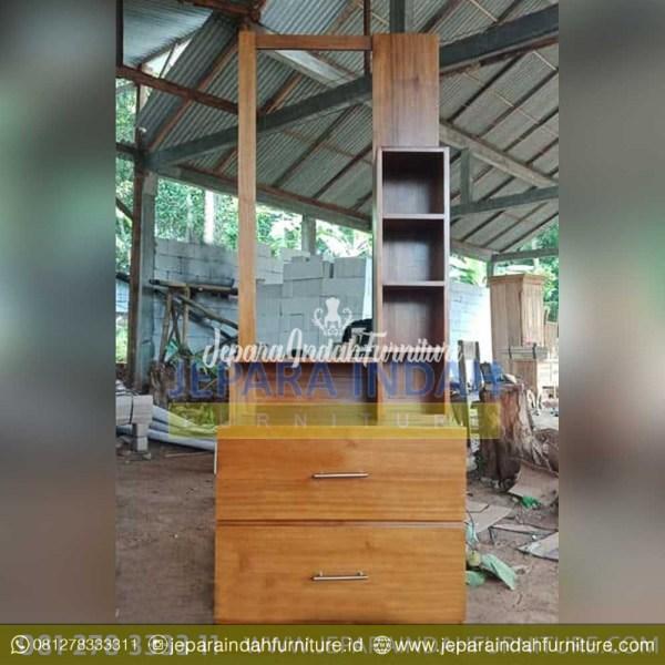 Harga Jual Meja Rias Jati Minimalis 2 Box (BRF TMR 060)
