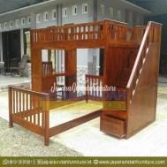 Harga Jual Ranjang Kamar Tingkat Jati Minimalis (CRF TTT 017)