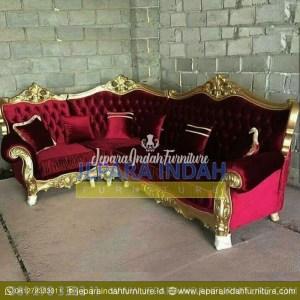Harga Jual Sofa Sudut Caroline Ukir Mewah Elegant (LRF STS 013)