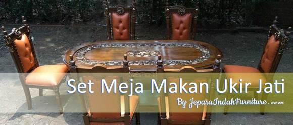 Set Meja Makan Ukir Jati Jepara Klasik Banner