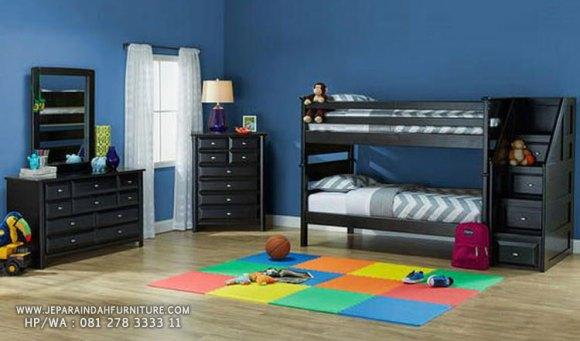 Tempat tidur tingkat untuk ruang kamar tidur anak semakin nyaman