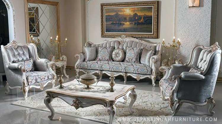 Set kursi sofa tamu mewah ukir jepara