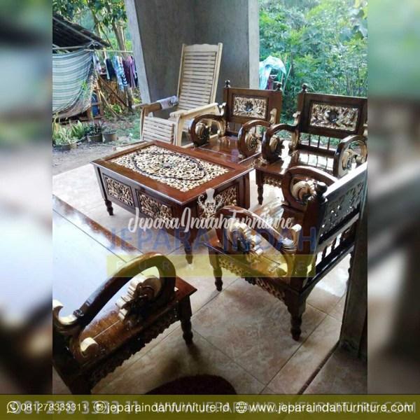 LRF SKT 036 Set Kursi Tamu Arimbi Warna Finishing Antik