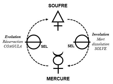 soufre sel mercure évolution involution