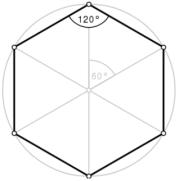 hexagone régulier angles