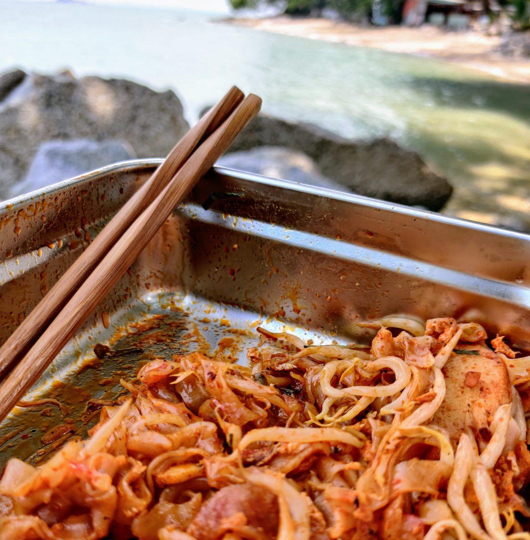 Penang - Dernier repas en extérieur avant le confinement