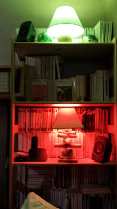 Lumières hue du salon