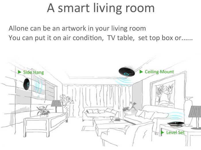orvibo sur meuble accrochage au mur ou plafond