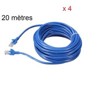 20 mètres câble réseau fois 4