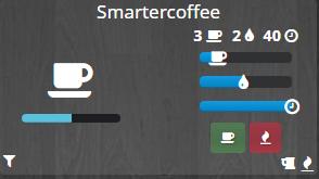 intégration de la cafetière connectée Smarter dans la domotique Jeedom