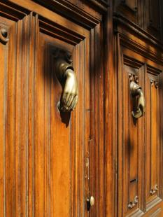 Door and Knocker II Another of Barcelona's ubiquitous fancy doors, though this was more interesting than ornate. Image Copyright ? 2007 Jeremiah Blatz