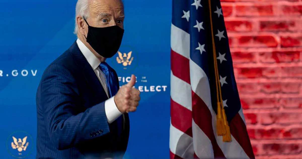 masked Joe Biden